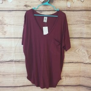Free People Bright Berry Tee